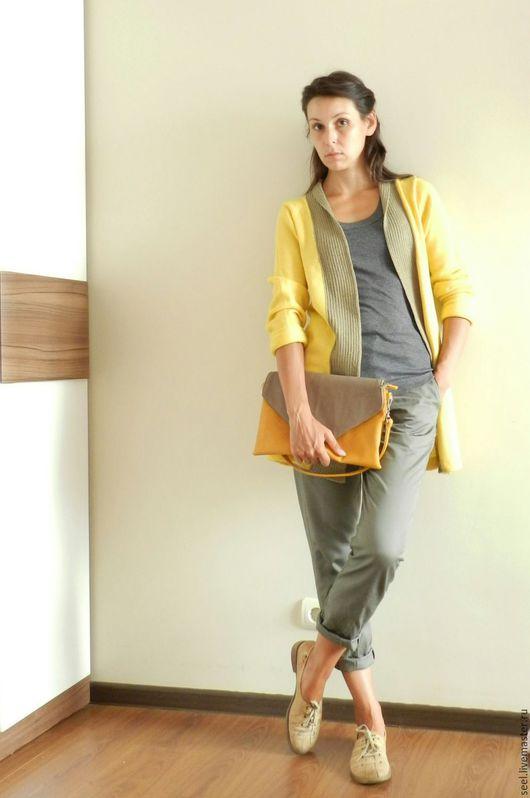Кофты и свитера ручной работы. Ярмарка Мастеров - ручная работа. Купить женский вязаный кардиган в стиле кэжуал. Handmade. Желтый