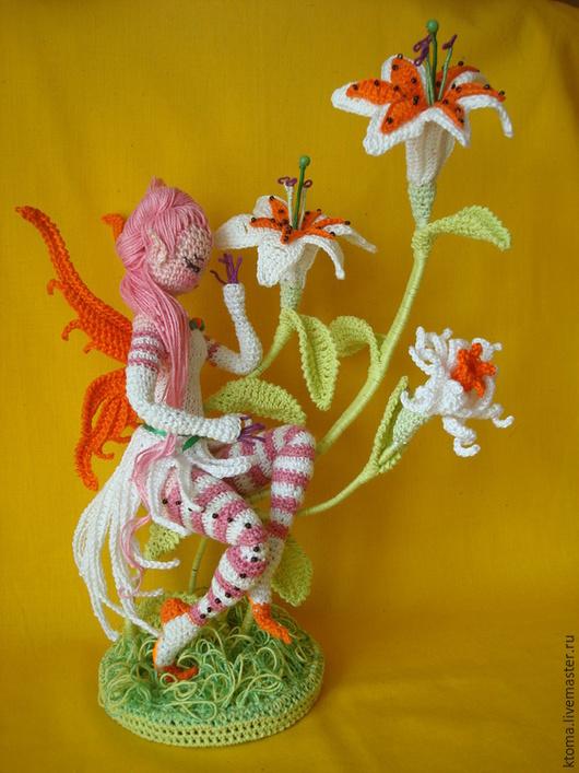 """Обучающие материалы ручной работы. Ярмарка Мастеров - ручная работа. Купить МК  """"Фея Лилия"""". Авторское описание вязания игрушки. Handmade."""