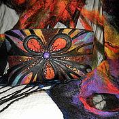 Классическая сумка ручной работы. Ярмарка Мастеров - ручная работа Комплект аксессуаров в одном стиле : палантин + сумка. Handmade.