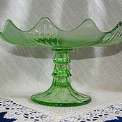Винтаж ручной работы. Ярмарка Мастеров - ручная работа Ваза для фруктов цветное стекло. Handmade.