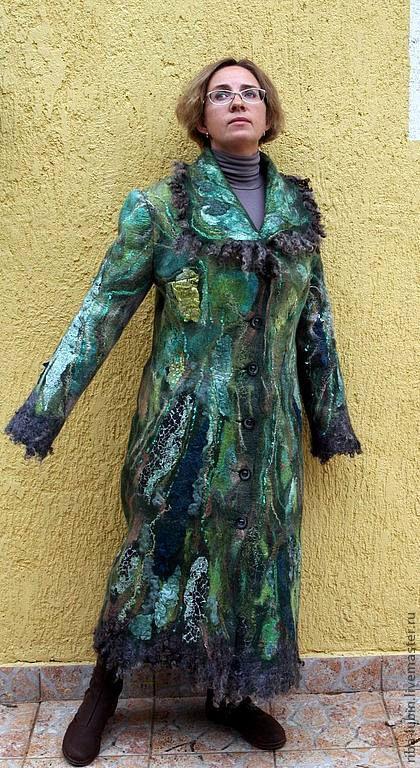 """Верхняя одежда ручной работы. Ярмарка Мастеров - ручная работа. Купить Валяное пальто """"Под деревом зеленым"""". Handmade."""