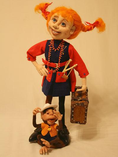 Коллекционные куклы ручной работы. Ярмарка Мастеров - ручная работа. Купить Кукла Пеппи. Handmade. Авторская работа, сказочный персонаж