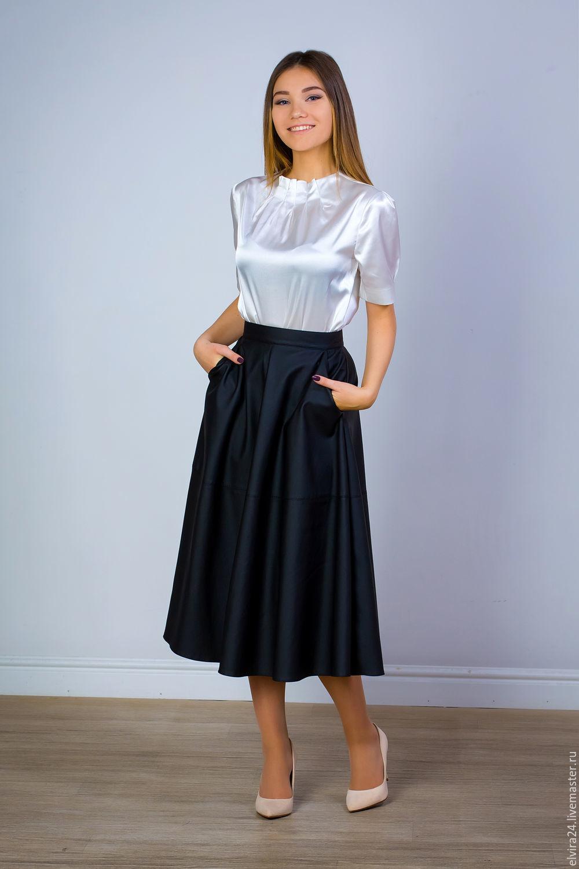 Skirts handmade. Livemaster - handmade. Buy Skirt leatherette  Classic  black  skirt faux ... bb27d7860
