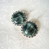 Украшения handmade. Livemaster - original item Earrings serafinite. Handmade.