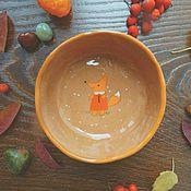 """Посуда ручной работы. Ярмарка Мастеров - ручная работа Пиалка """"Лисуня"""". Handmade."""