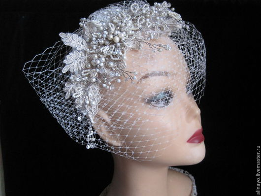 Свадебные украшения ручной работы. Ярмарка Мастеров - ручная работа. Купить свадебное украшение в прическу в винтажном стиле Diana. Handmade.
