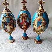Сувениры и подарки handmade. Livemaster - original item Interior Easter egg with faces of saints ( big! ). Handmade.