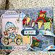 Блокноты ручной работы. Ярмарка Мастеров - ручная работа. Купить Книга молодой мамы (для сыночка). Handmade. Голубой