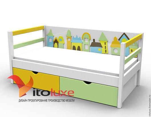 """Детская ручной работы. Ярмарка Мастеров - ручная работа. Купить Детская кровать """"Город"""". Handmade. Комбинированный, детская кровать"""