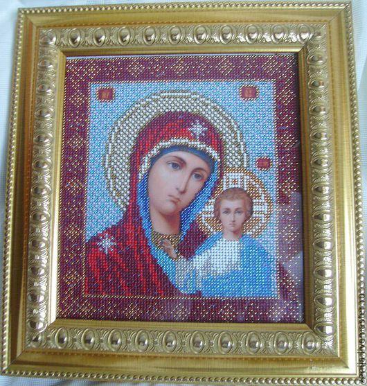 икона казанская божья мать.ручная работа оксана бессчетнова.