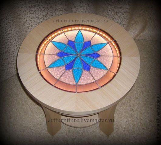 Мебель ручной работы. Ярмарка Мастеров - ручная работа. Купить Кофейный столик с подсветкой Калейдоскоп. Handmade. Стол, кофейный столик
