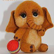 Куклы и игрушки ручной работы. Ярмарка Мастеров - ручная работа Слоненок Фунтик. Handmade.