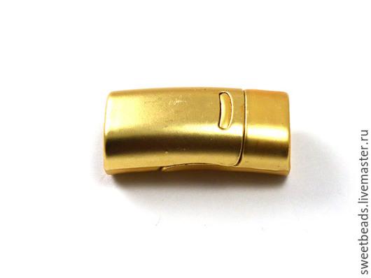 Для украшений ручной работы. Ярмарка Мастеров - ручная работа. Купить Замок Regaliz гладкий магнитный, золото. Handmade. металл
