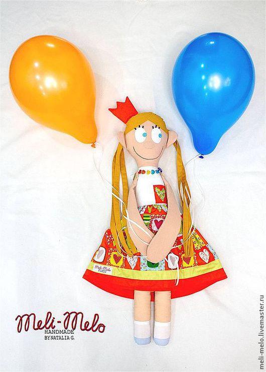 Детская ручной работы. Ярмарка Мастеров - ручная работа. Купить Кукла Принцесса Преяркая.. Handmade. Кукла текстильная, бусы, войлок