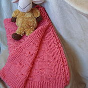 Для дома и интерьера handmade. Livemaster - original item CHILDREN`S KNITTED BLANKET. Handmade.