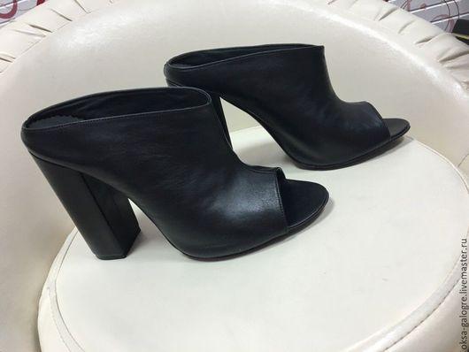 Обувь ручной работы. Ярмарка Мастеров - ручная работа. Купить Сабо. Handmade. Черный, индивидуальный дизайн