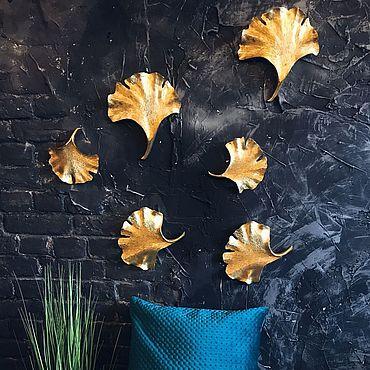 Для дома и интерьера ручной работы. Ярмарка Мастеров - ручная работа Панно: панно Листья. Handmade.
