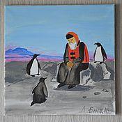 """Картины и панно ручной работы. Ярмарка Мастеров - ручная работа """"Патриарх в Антарктиде"""". Handmade."""