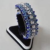 Украшения handmade. Livemaster - original item Beaded decoration. Bracelet with rhinestones. Handmade.