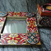Зеркала ручной работы. Ярмарка Мастеров - ручная работа Зеркало+шкатулка Восточный набор. Handmade.