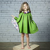 Платья ручной работы. Ярмарка Мастеров - ручная работа Платья: Фея с валяными бусами. Handmade.