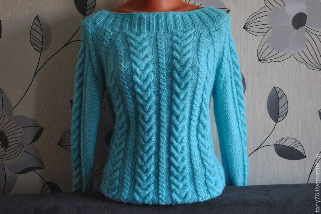 Вяжем теплый женский свитер спицами. Схемы и фото помогут