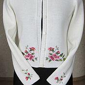Одежда ручной работы. Ярмарка Мастеров - ручная работа Кофта Розочки для больших девочек. Handmade.