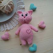 Куклы и игрушки ручной работы. Ярмарка Мастеров - ручная работа Игрушка-погремушка (котик). Handmade.