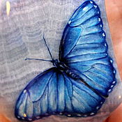 """Украшения ручной работы. Ярмарка Мастеров - ручная работа Кулон """"Голубая бабочка"""" 1 (резерв для Веры). Handmade."""
