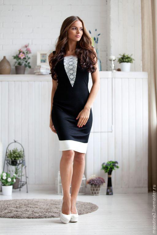 """Платья ручной работы. Ярмарка Мастеров - ручная работа. Купить Платье """"Lady Night"""". Handmade. Чёрно-белый, платеь на заказ"""