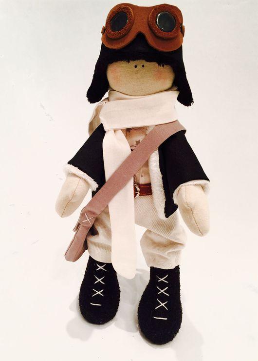 Куклы тыквоголовки ручной работы. Ярмарка Мастеров - ручная работа. Купить Лётчик.. Handmade. Пилот, 23 февраля подарок, мужчине