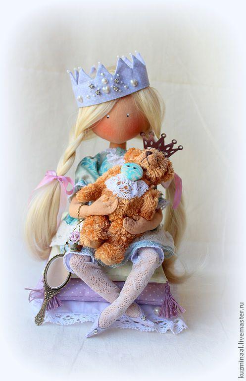 Человечки ручной работы. Ярмарка Мастеров - ручная работа. Купить Текстильная кукла LITTLE PRINCESS. Handmade. Тёмно-бирюзовый, для девочки
