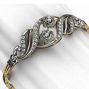 Браслет из бусин ручной работы. Ярмарка Мастеров - ручная работа Браслет из золота с бриллиантами. Handmade.