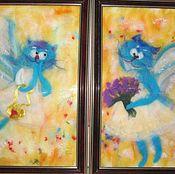 Картины и панно ручной работы. Ярмарка Мастеров - ручная работа На крыльях любви. Handmade.