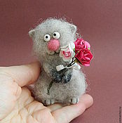 Куклы и игрушки handmade. Livemaster - original item Cat romantic Valentine. Handmade.