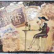 Для дома и интерьера ручной работы. Ярмарка Мастеров - ручная работа Под крышами Парижа. Handmade.