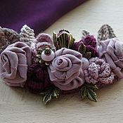 """Украшения ручной работы. Ярмарка Мастеров - ручная работа Брошь """"Пыльные розы"""". Handmade."""