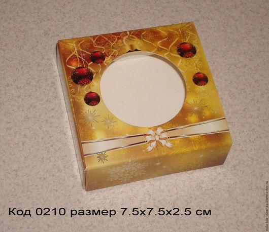 Коробочка квадратная код 0210   размер 9х6.5х2.5 см