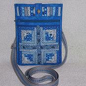 Сумки и аксессуары handmade. Livemaster - original item Bag, lukomnik, bag belt, Patchwork bag, Blue, Ethno. Handmade.