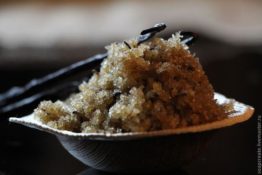 Питательный Ванильный Сахарный скраб для тела