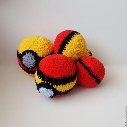 Развивающие игрушки ручной работы. Ярмарка Мастеров - ручная работа. Купить Мячики-антистресс, вязаные крючком – Красное и желтое. Handmade.