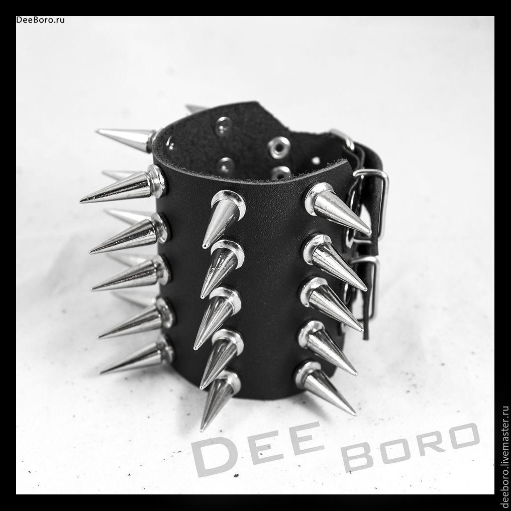 """Браслеты ручной работы. Ярмарка Мастеров - ручная работа. Купить Кожаный браслет """"Кимор Макс"""". Handmade. Металл, черный браслет"""