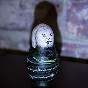 Подарки к праздникам ручной работы. Ярмарка Мастеров - ручная работа Мёртвый кролик (авторская матрёшка). Handmade.
