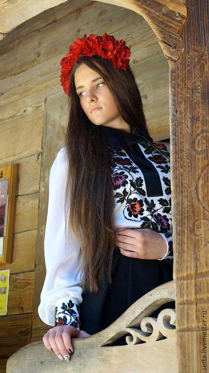 """Блузки ручной работы. Ярмарка Мастеров - ручная работа. Купить Блуза женская """"Мавка"""". Handmade. Бисер чешский, блузка нарядная"""