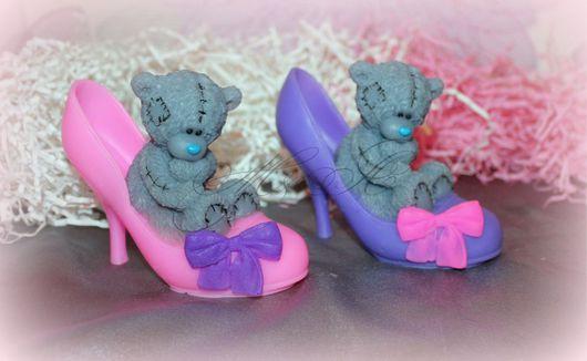 Мыло ручной работы. Ярмарка Мастеров - ручная работа. Купить Мыло Мишка тедди в туфле. Handmade. Подарок, мыло сувенирное