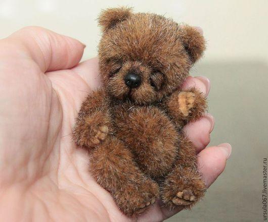 Мишки Тедди ручной работы. Ярмарка Мастеров - ручная работа. Купить Сплюша 8 см. Handmade. Мишки тедди, пластик