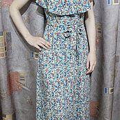 Одежда ручной работы. Ярмарка Мастеров - ручная работа Макси бохо-платье. Цветы. Handmade.