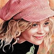 Картины и панно handmade. Livemaster - original item Portrait of a girl in the technique of