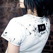 Одежда ручной работы. Ярмарка Мастеров - ручная работа бомж-футболка. Handmade.