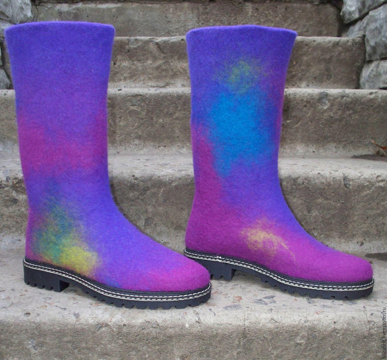 Фиолетовые сапоги: 16 стильных образов | проБоты